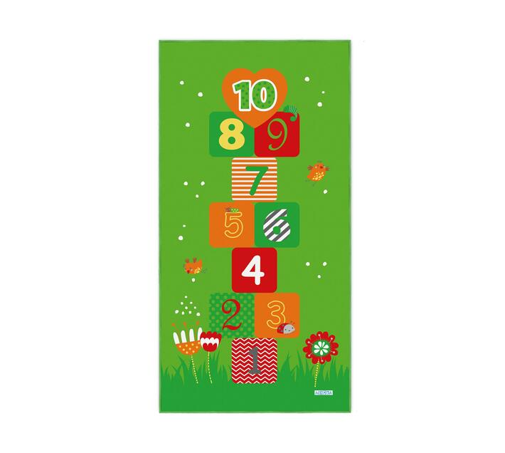 Kids Original Hop Scotch 100x200 Green