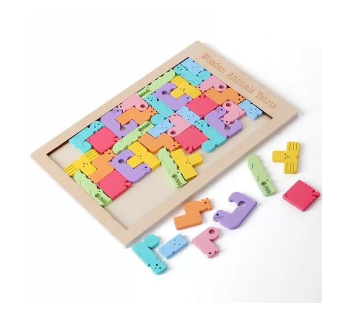 Wooden Animal Tetris