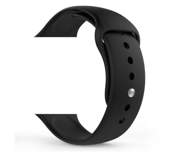 MDM Electron silicone Strap Band for 38/40mm Apple Watch (Black)
