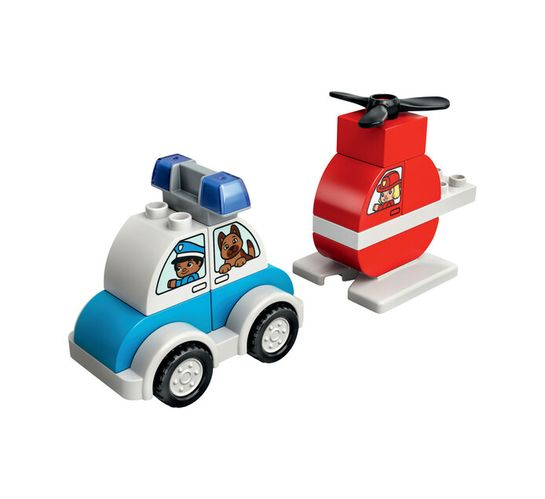 Lego Duplo My First Fire Helicopter and Police Car