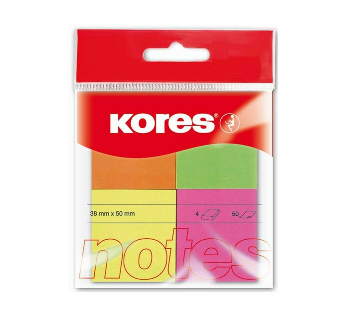 Kores Multicolour Neon Notes Assorted 50 sheets