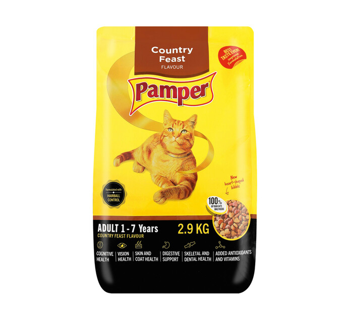 Pamper Cat Food Country Feast (1 x 2.9kg)
