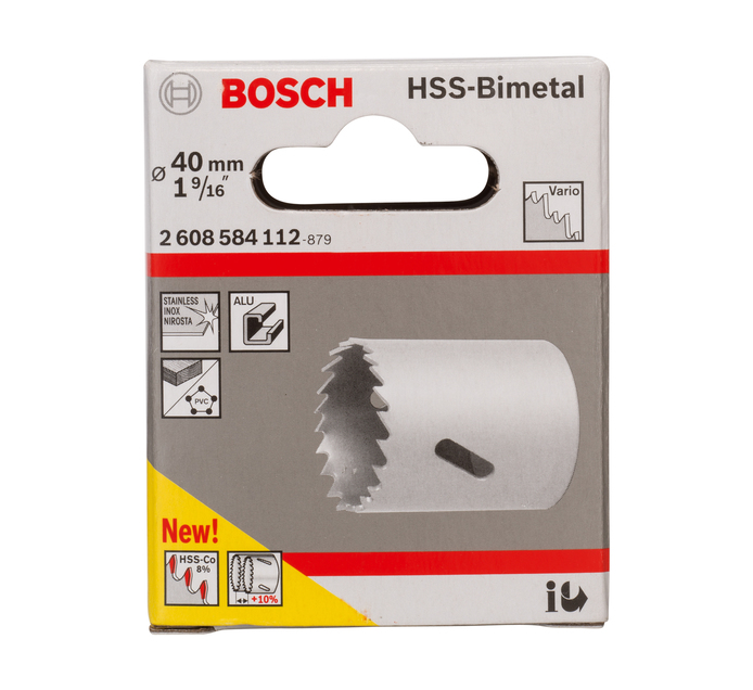 Bosch 40MM Hss BI Metal Hole saw