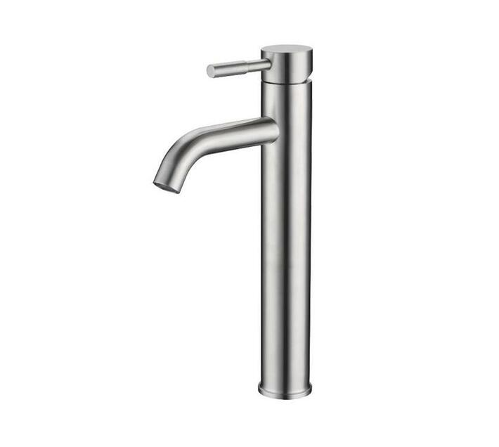 CHROMECATER Basin Tall Round Brushed S/Steel