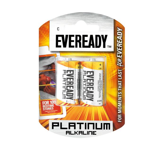 Eveready Platinum Alkaline C Batteries 2-Pack
