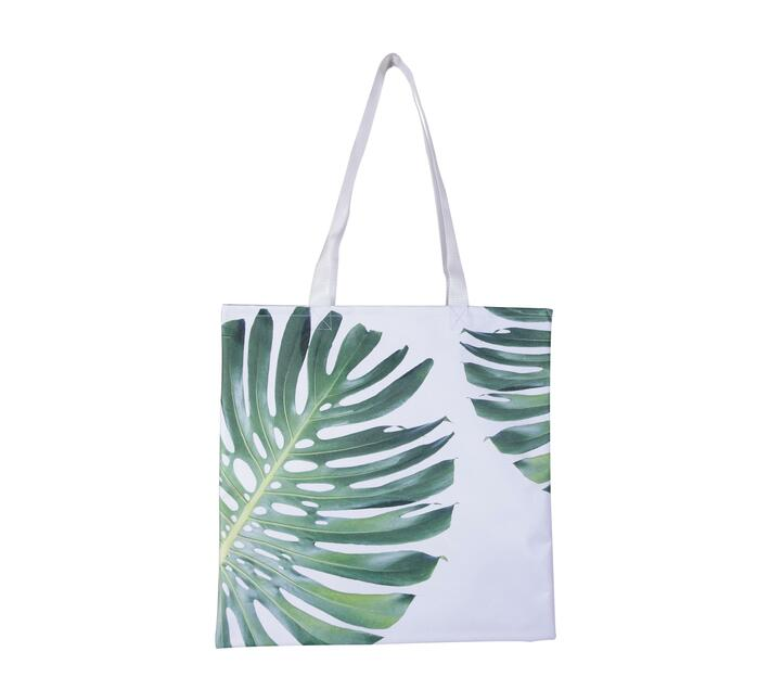 Tote Bag made with canvas with a Delicious Monster leaves print.