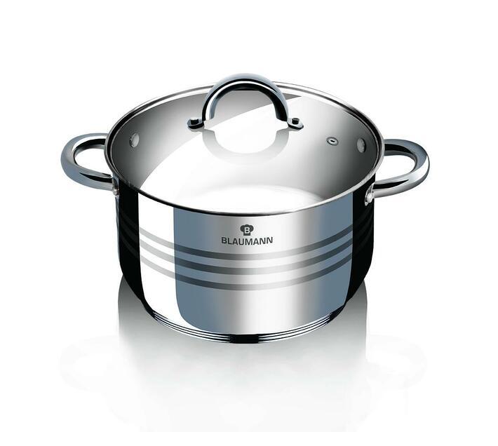 Blaumann 28cm Stainless Steel Stock Pot Gourmet Line