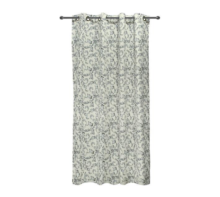 easyhome Ornamental Dolly Grey eyelet curtain 140 x 260cm