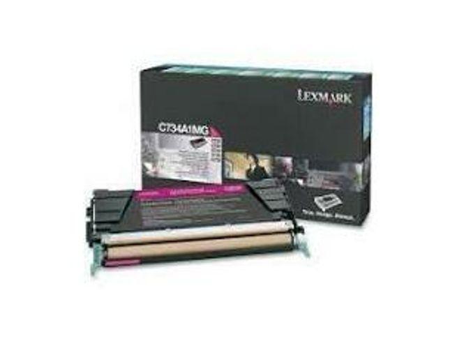 Lexmark C734A1MG C734 C736 X734 X736 X738 Toner Cartridge (Magenta)