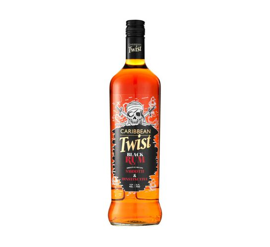 Caribbean Twist Black Rum (1 x 750ml)