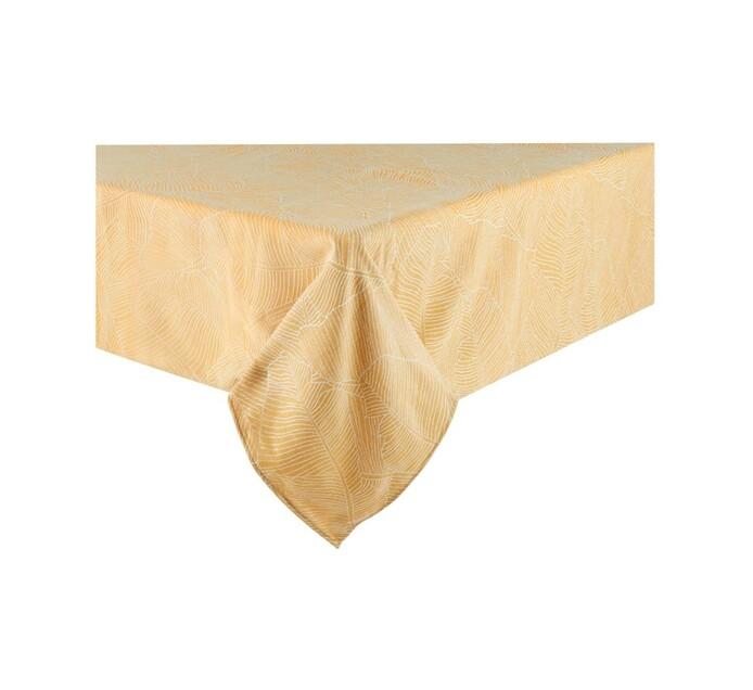Sheraton 180 x 290 cm Leaf Table Cloth Yellow