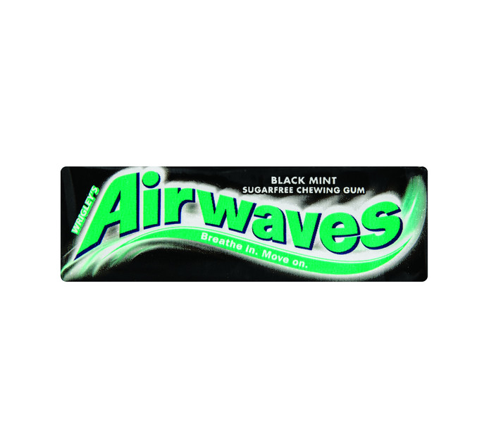 Airwaves Sugar Free Gum Black Mint (1 x 10PC)