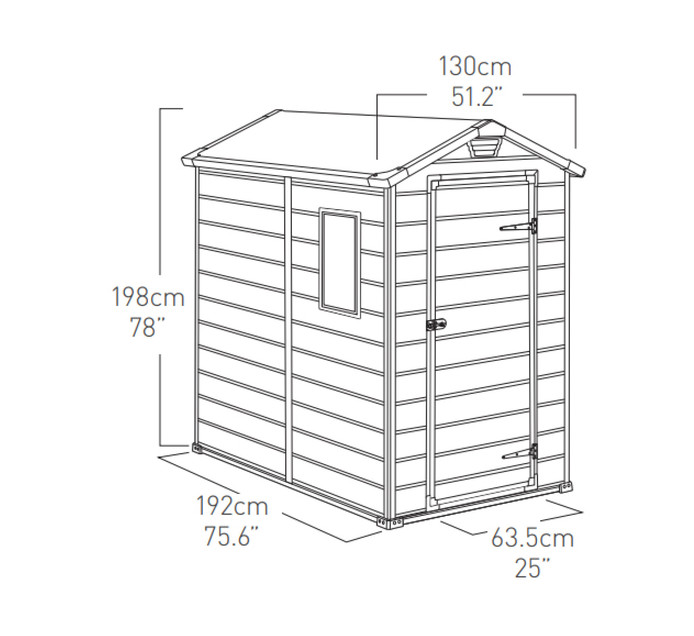 Keter 1.3 x 1.92 m Manor Garden Shed---Anthracite
