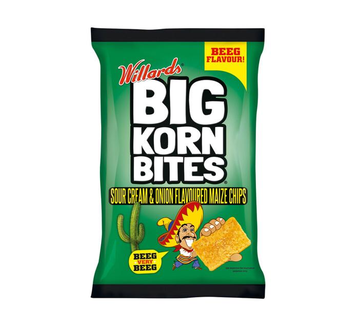WILLARDS Big Korn Bites Sour Cream and Onion (1 x 120g)