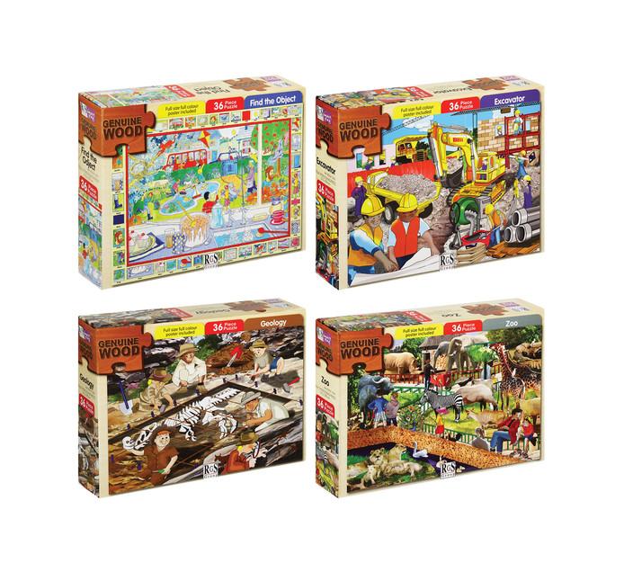 36/40-Piece Wooden Puzzle