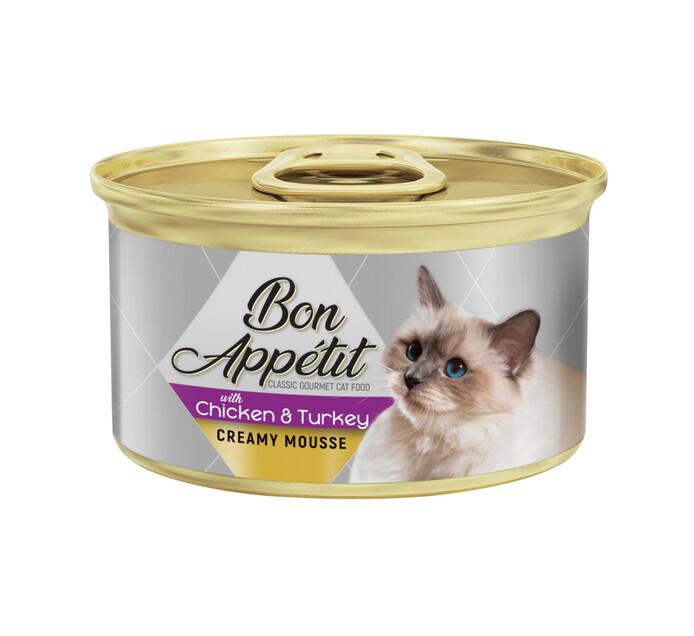 Bon Appetit Crm Cat Mousse Chicken & Turkey (12x85g)