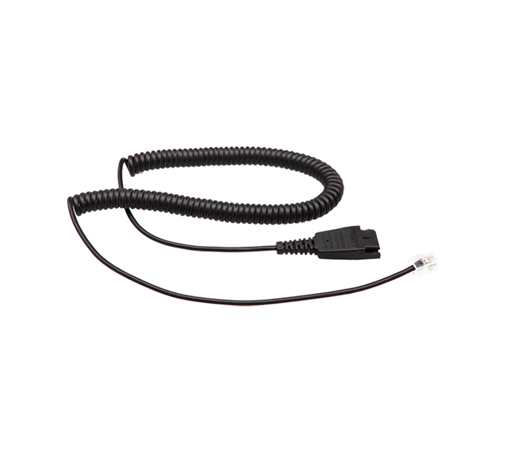 Headset cable - GN (Jabra) QD to RJ09 for Polycom, Mitel, Avaya