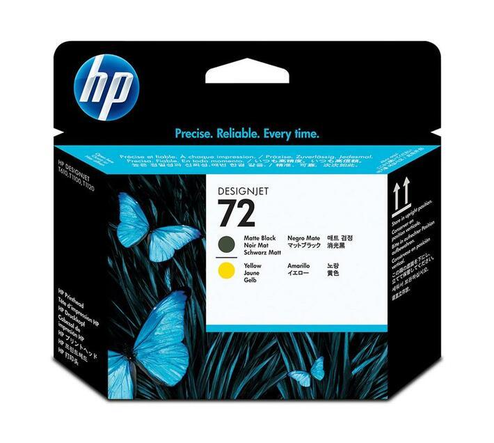 HP 72 - yellow, matte black - printhead