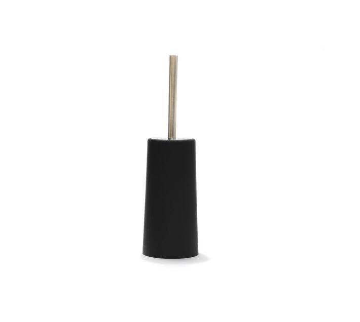 Toilet Brush Round Plastic Black