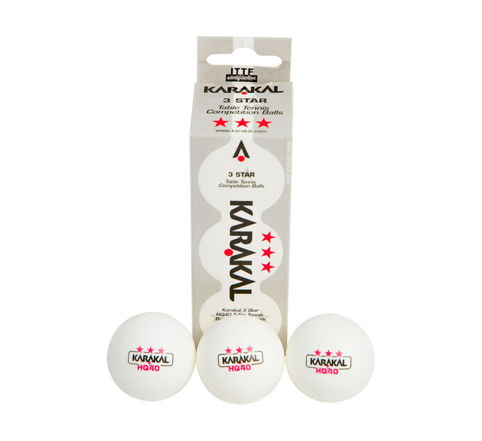 Karakal 3-pack 3-Star Table Tennis Balls 3-Pack