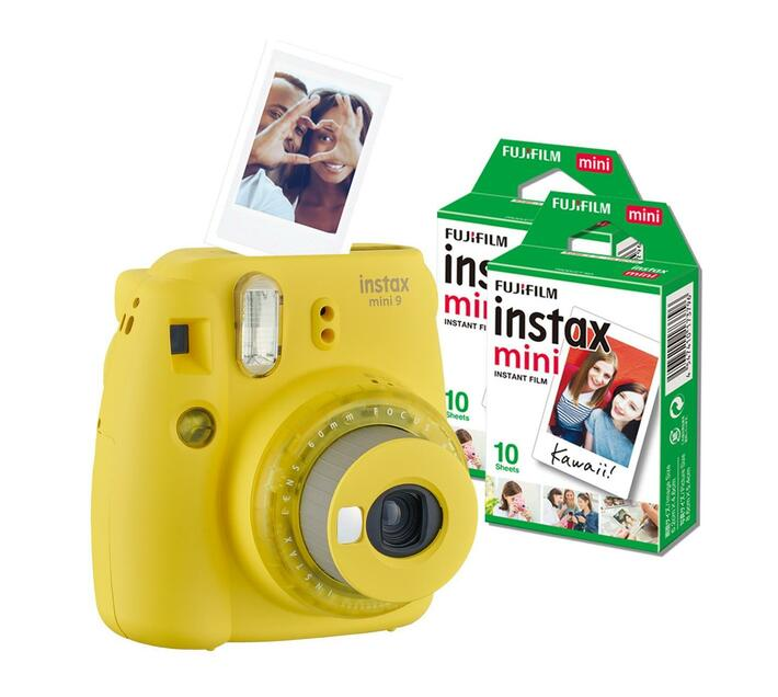 Instax Mini 9 Clear Yellow (camera + 1 film)