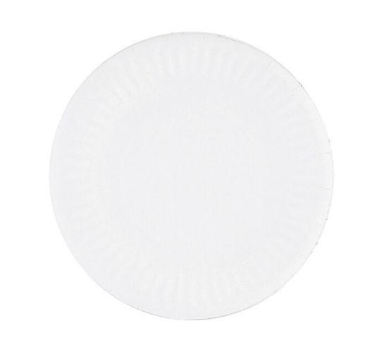 ARO White Paper Plates (1 x 180mm x 100's)