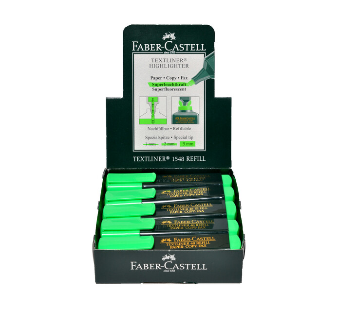 FABER CASTELL Highlighter Green 10 Pack