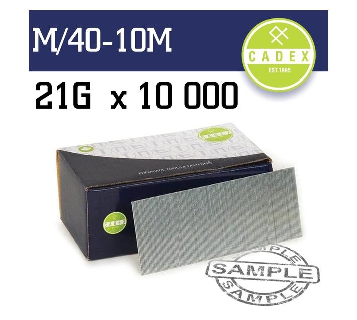 Cadex T40 Brad Nail 21g 40mm Galv 10000pce