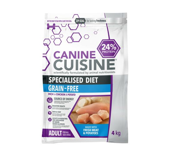 Canine Cuisine Dog Food Chicken and Potato (1 x 4 kg)