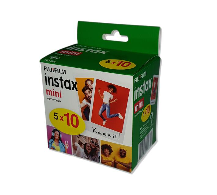 INSTAX Film Mini Five Pack (50 Sheets) White NEW