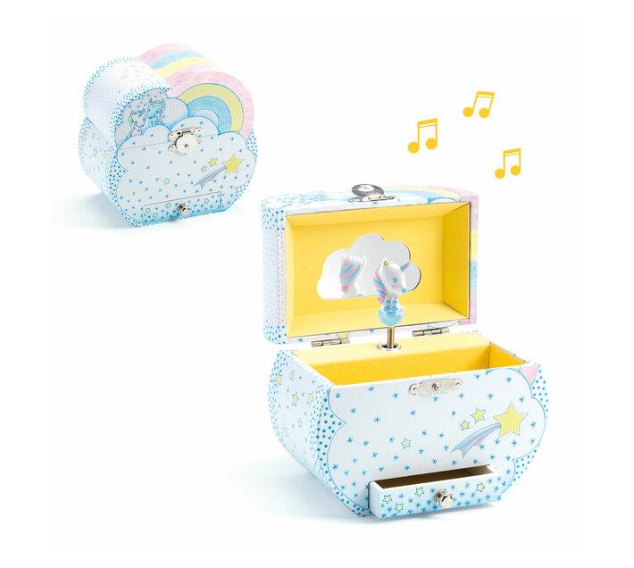 Djeco Wooden Musical Box- Dreams of Unicorns