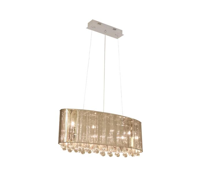 Inside Out Crystal pendant in Chrome/Tinted PVC Shade