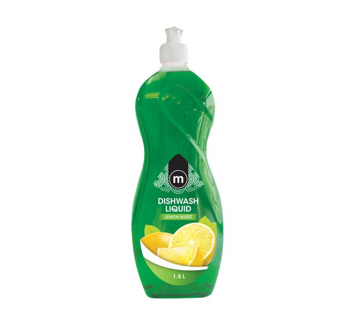 M Dish Washing Liquid Lemon Burst (1 x 1.5l)