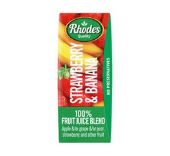 Rhodes Fruit Juice Blend Strawberry And Banana (24 x 200ml)
