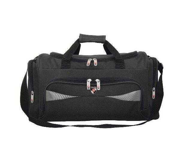 2627 Black Kings urban gear Duffel/travel carry bag with Grey Inserts