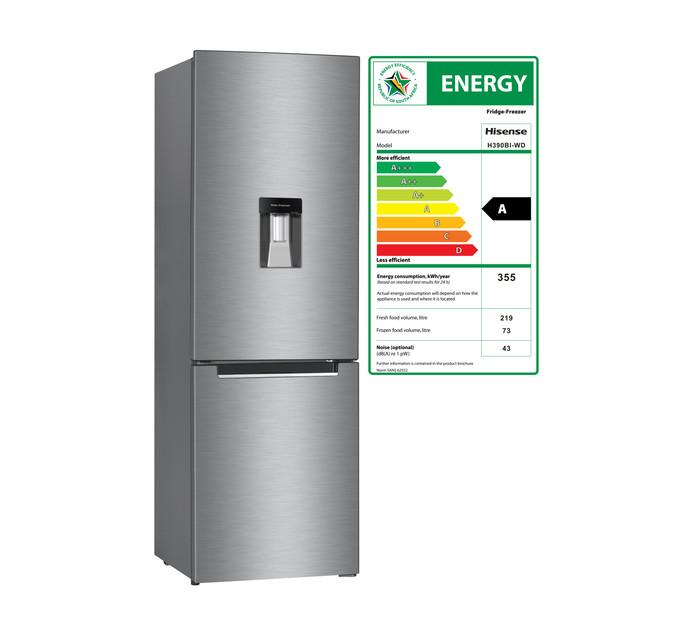 HISENSE 292 l Combi Fridge/Frost Free Freezer with Water Dispenser