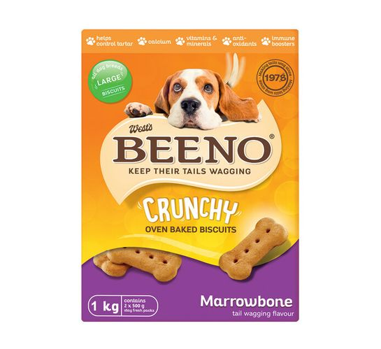 BEENO DOG BISCUITS 1KG, MARROW LARGE