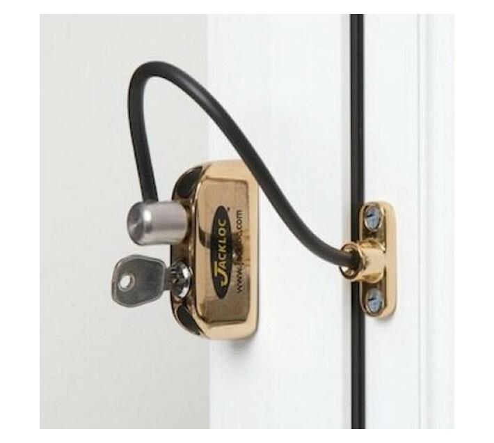 Jacklok Window Restrictor Brass