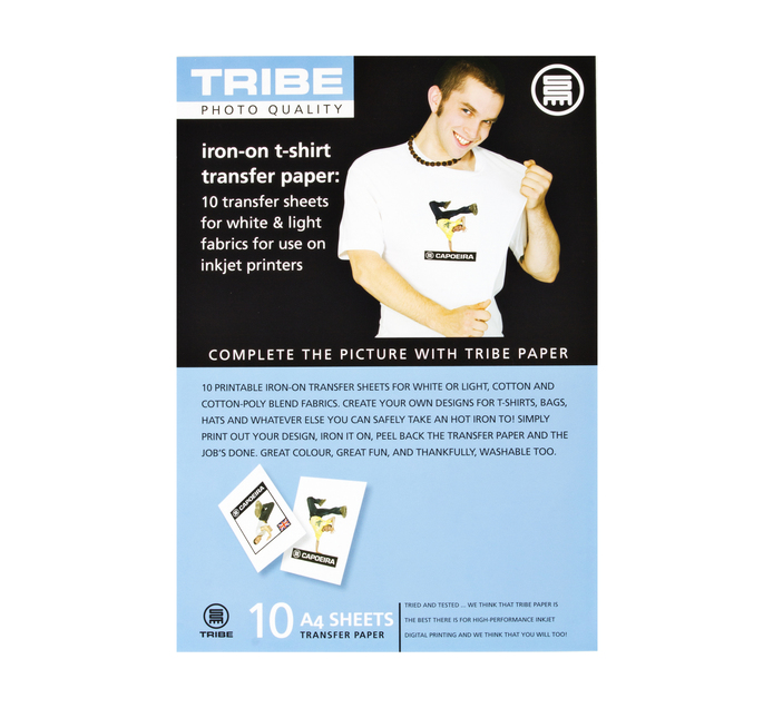 TRIBE A4 Iron-On Transfer Paper 10 Sheets