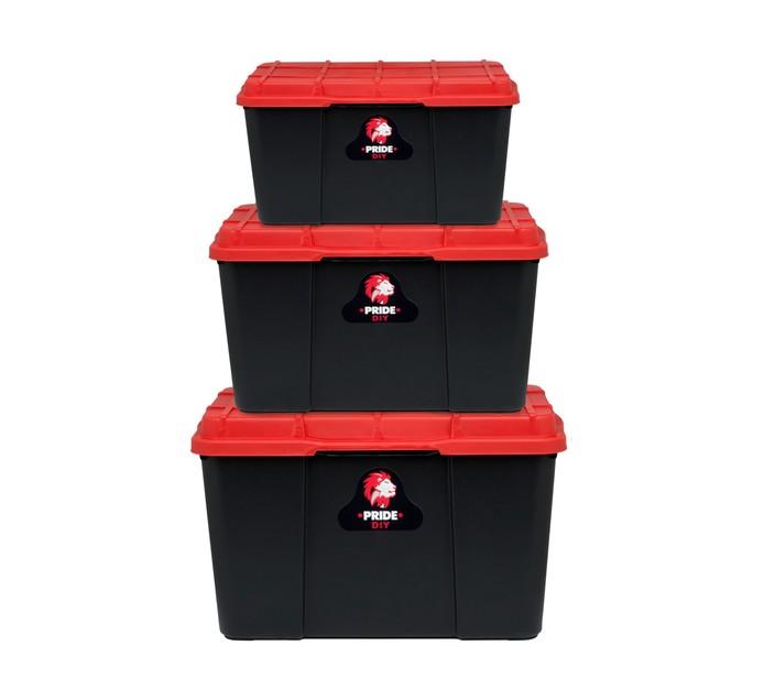 Pride 3-Piece Storage Box Set