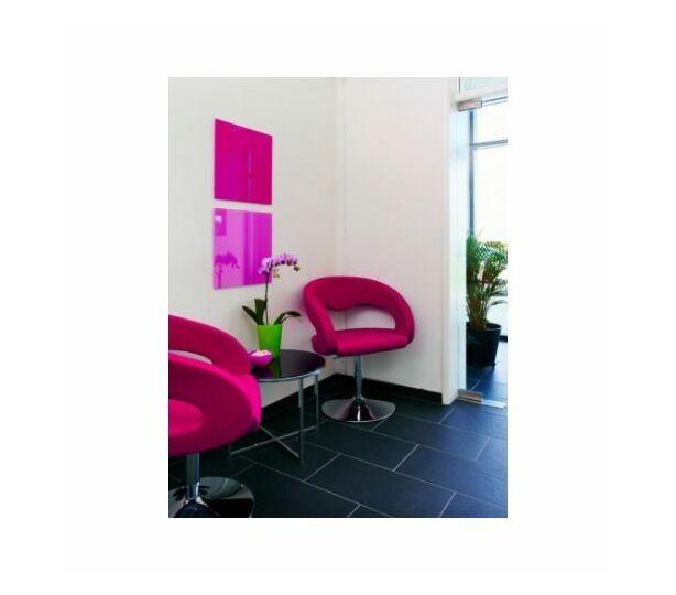 Naga Magnetic Glass Board - Light Pink