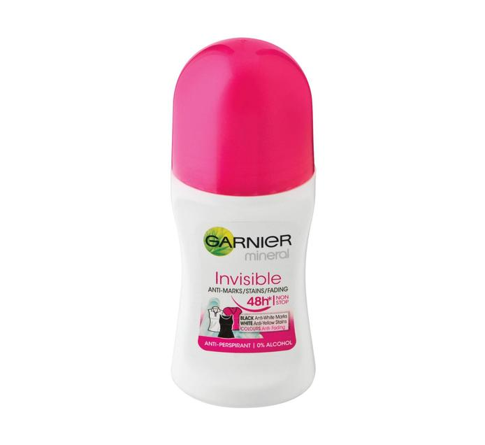 Garnier Roll On Deodrant Invisible Blk and Wh Col Women (1 x 50ml)