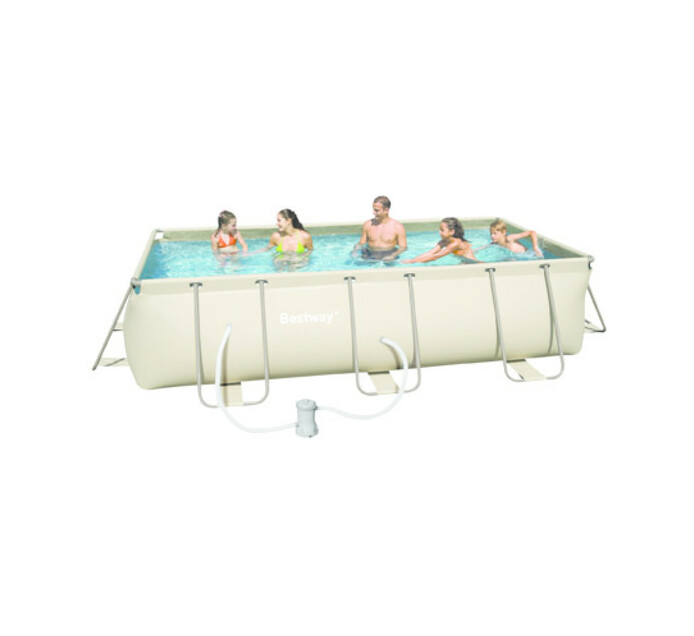Bestway 4 m x 2 m Steel Frame Rectangular Pool Set