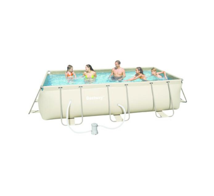 Bestway 4 m x 2 m x 1 m Steel Frame Rectangular Pool Set