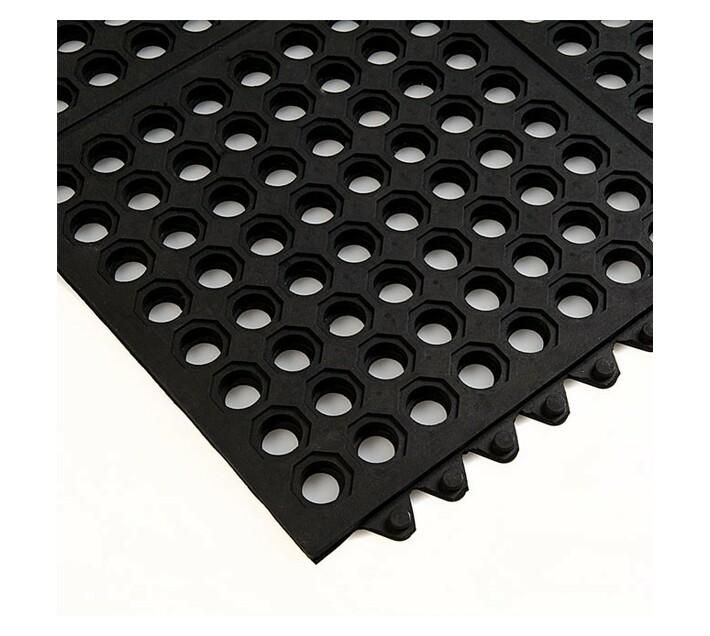 Rubber Modular Mat Open 900x900 14mm Black