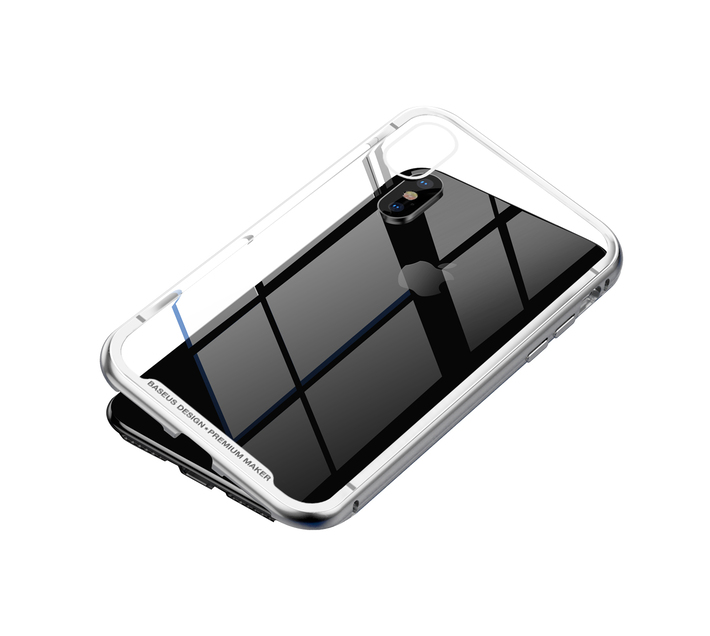 Baseus Magnetite Magnetic Hardware Case for iPhone XS Max - Silver
