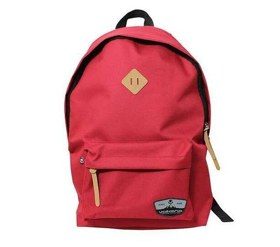 Volkano Distinct Series 15.6? (39.6 cm) Backpack in Red With Elasticized Laptop Compartment and Adjustable Shoulder Straps