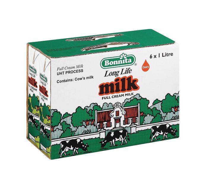 Bonnita UHT Full Cream Milk (6 x 1l)