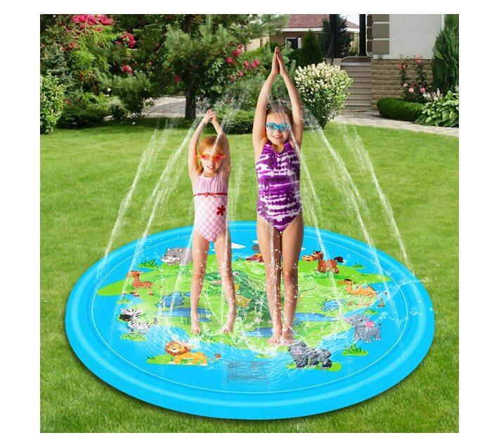 Water Sprinkler Play Mat 1.6M - Wild Animals