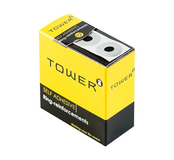TOWER Self Adhesive Ring Enforcements 1 Sheet